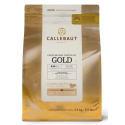 Zlatá čokoláda Callebaut Gold - balení 2,5 kg