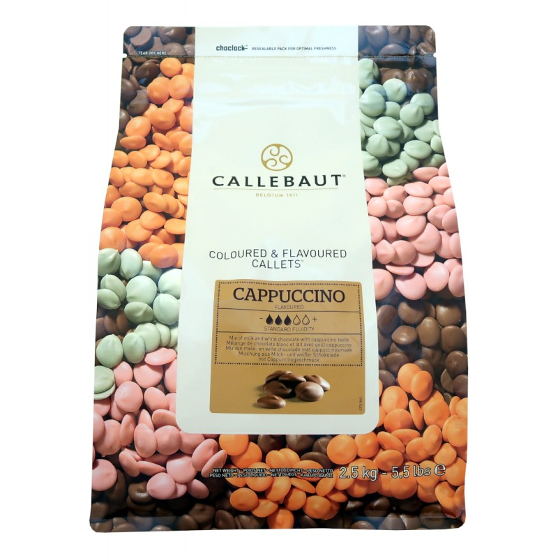 Cappuccino čokoláda Callebaut - balení 2,5 kg