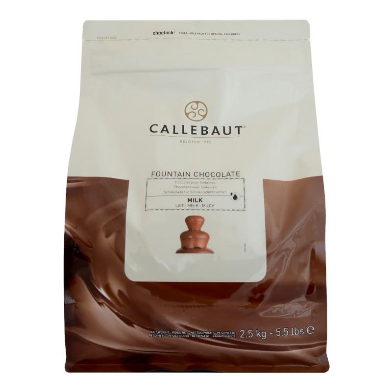Mléčná belgická čokoláda Callebaut - balení 2,5 kg