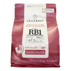 Červená čokoláda Callebaut Ruby - balení 2,5 kg