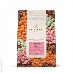 Jahodová čokoláda Callebaut - balení 2,5 kg